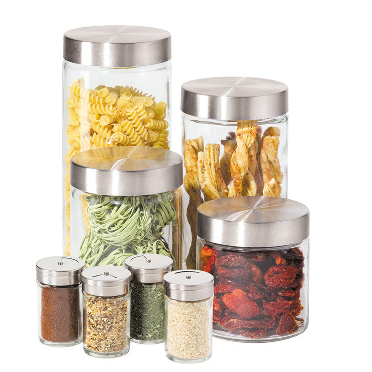 Glass Canister 8 Piece Set