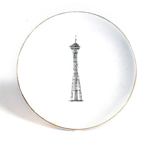 1960s Seattle Space Needle Plate
