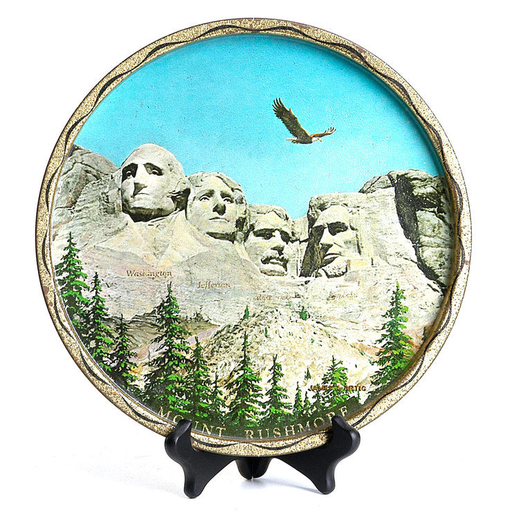 1960s Mount Rushmore Plate