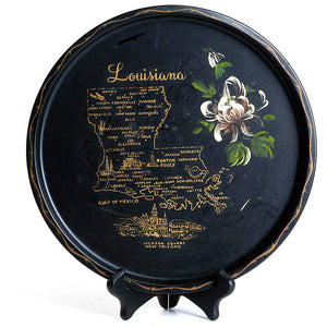 1950s Painted Louisiana Plate
