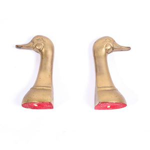 Duck Head Bookend Pair
