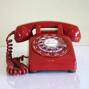 1967 Red Dial Desk Phone