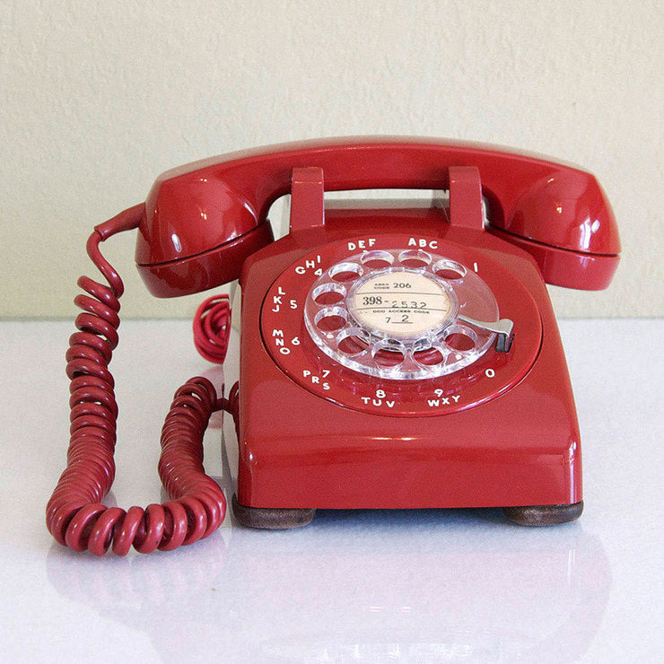 1952 Red 500 Dial Desk Phone