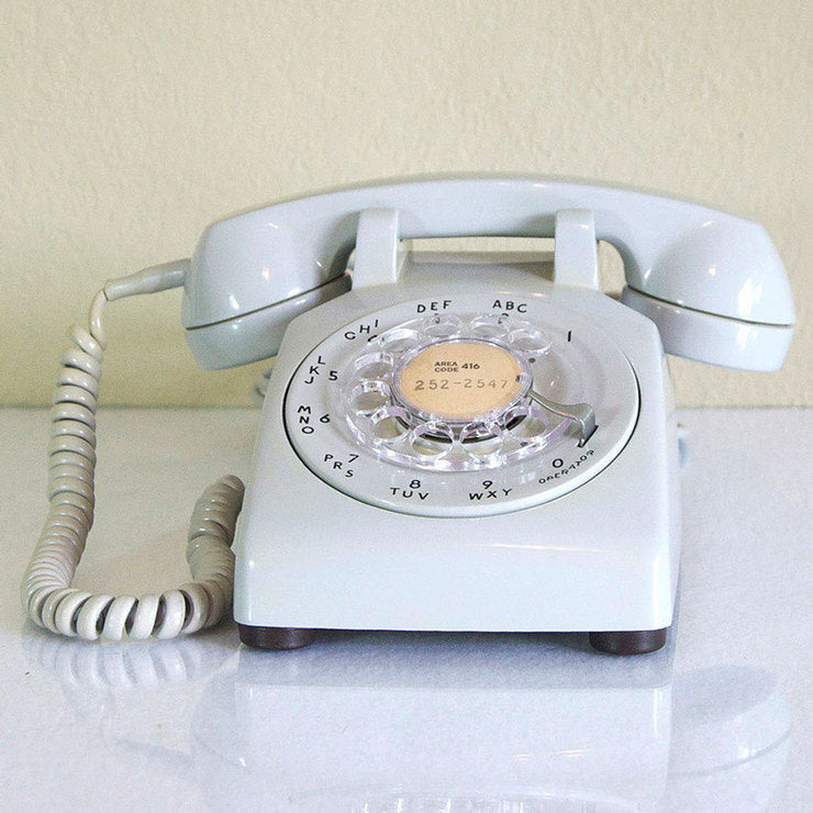 1973 Rare Gray Desk Phone