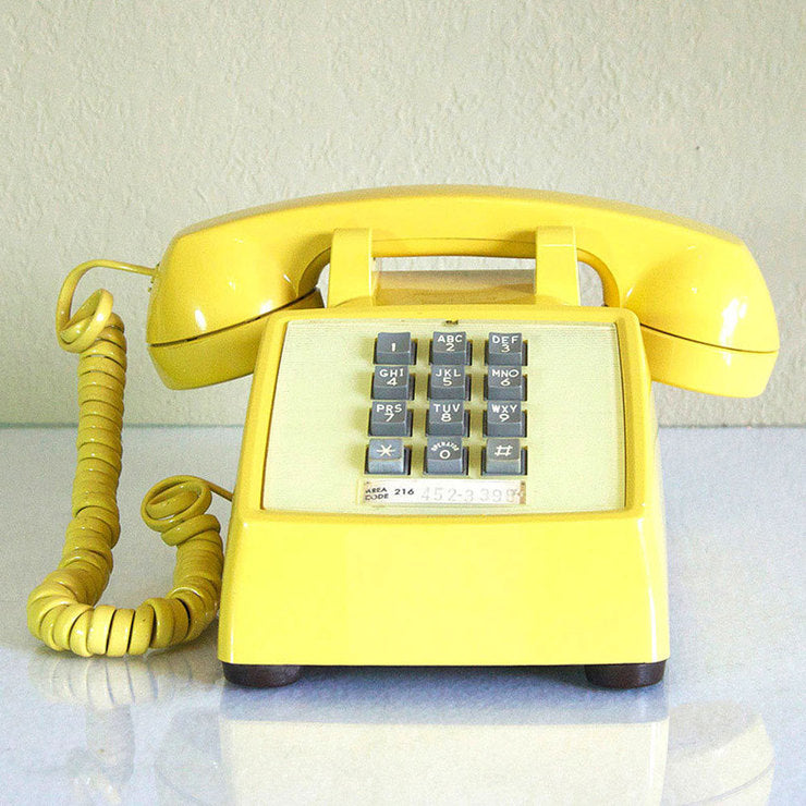 1969 Yellow Touch Tone Phone