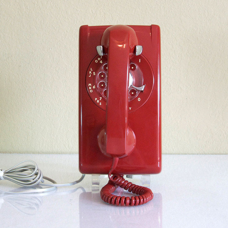 1972 Dark Red Wall Phone