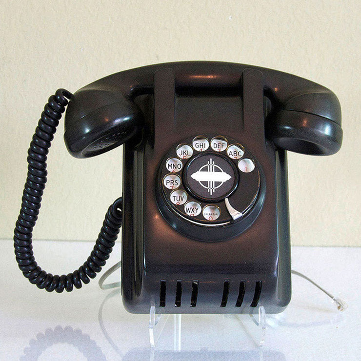 1946 Black Bakelite Wall Phone