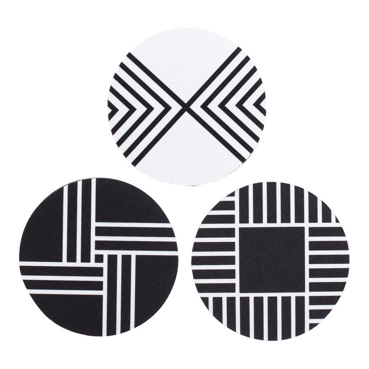 Contrast Coasters Set Of 6