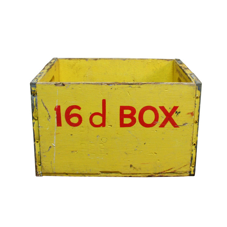 8D Crate Yellow