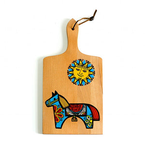 Dala Horse Wood Cutting Board