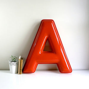 Large Industrial Sign Letter A
