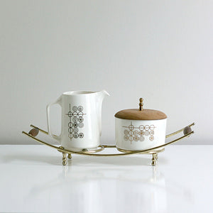 Cream & Sugar Set With Stand