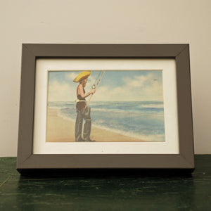 Framed Girl On Beach In Waders