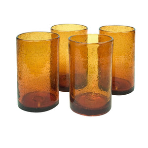 Iris Highball Amber Set Of 4