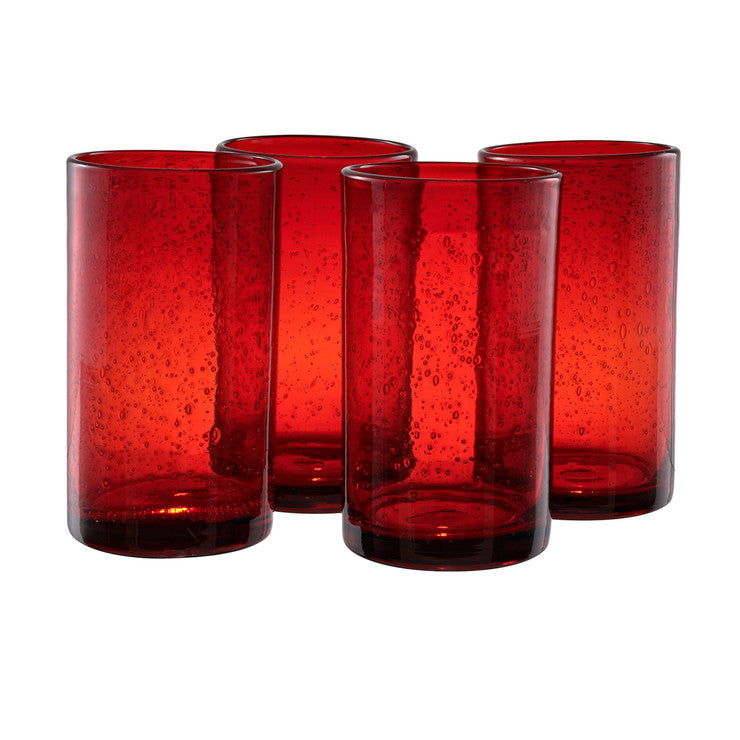 Iris Highball Ruby Set Of 4