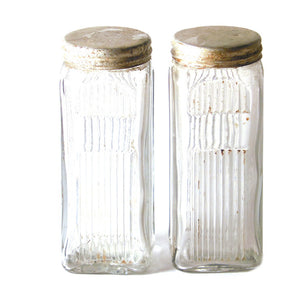 Glass Jars With Lid Pair I