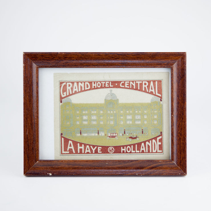 Framed Grand Hotel Sticker