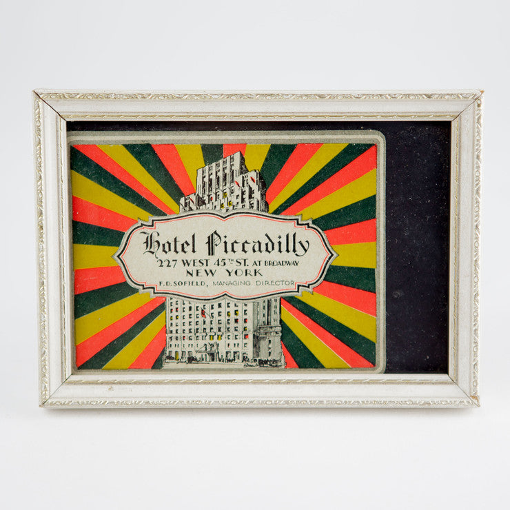 Framed Hotel Piccadilly Sticker