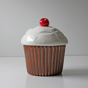 Brown Cupcake Canister