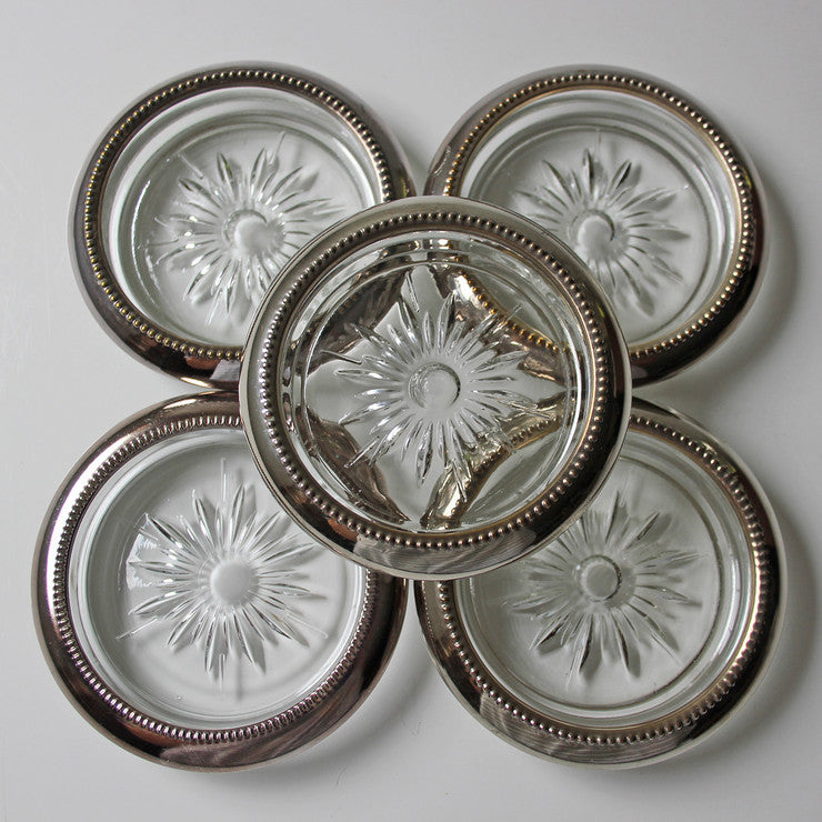 Glass & Silver-Plated Coasters