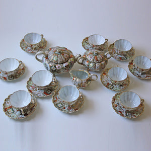 Antique Japanese Kutani Tea Set