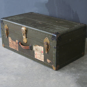 Green Military Travel Trunk