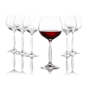 Burgundy Glass Set Of 6