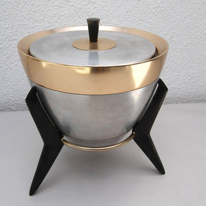 Aluminum Ice Bucket With Stand