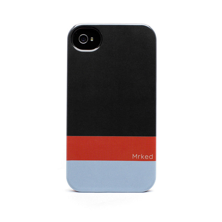 iPhone Case Dark Gray Fire Red