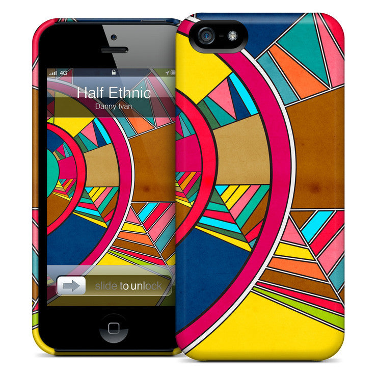 Half Geometric iPhone Case
