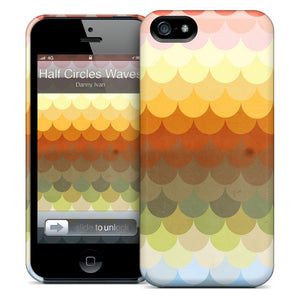 Half Circles Waves iPhone Case