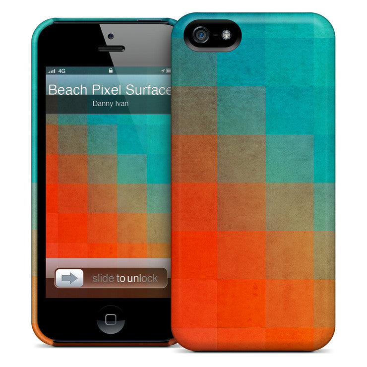 Beach Pixel Surface iPhone Case