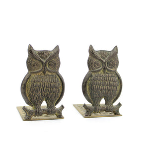 Brass Owl Bookend Pair