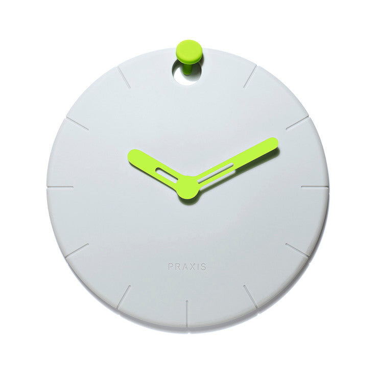 HOOCK Rubber Wall Clock Green