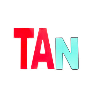 Channel Letters Tan