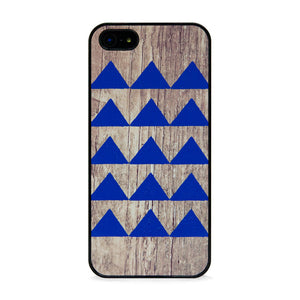 Geo Wood Triangle iPhone 5 Navy