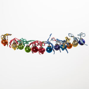 Glass Baubles Multi Set Of 12