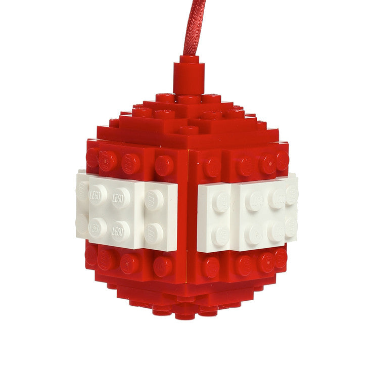 Bauble Made From LEGO® Red White