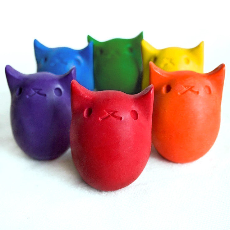 Kitty Egg Crayons Set Of 6