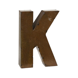 Bronze Finish Letter K