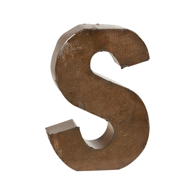 Bronze Finish Letter S