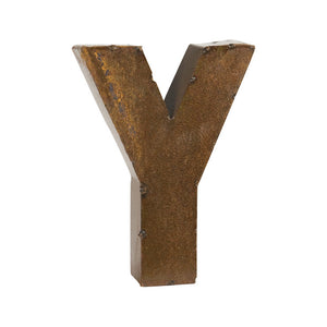 Bronze Finish Letter Y