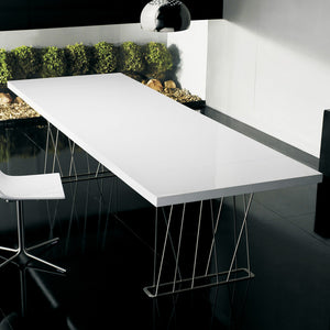 Clarges 114in Dining Table White