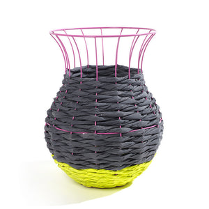 Fluorescent Basket Yellow Pink