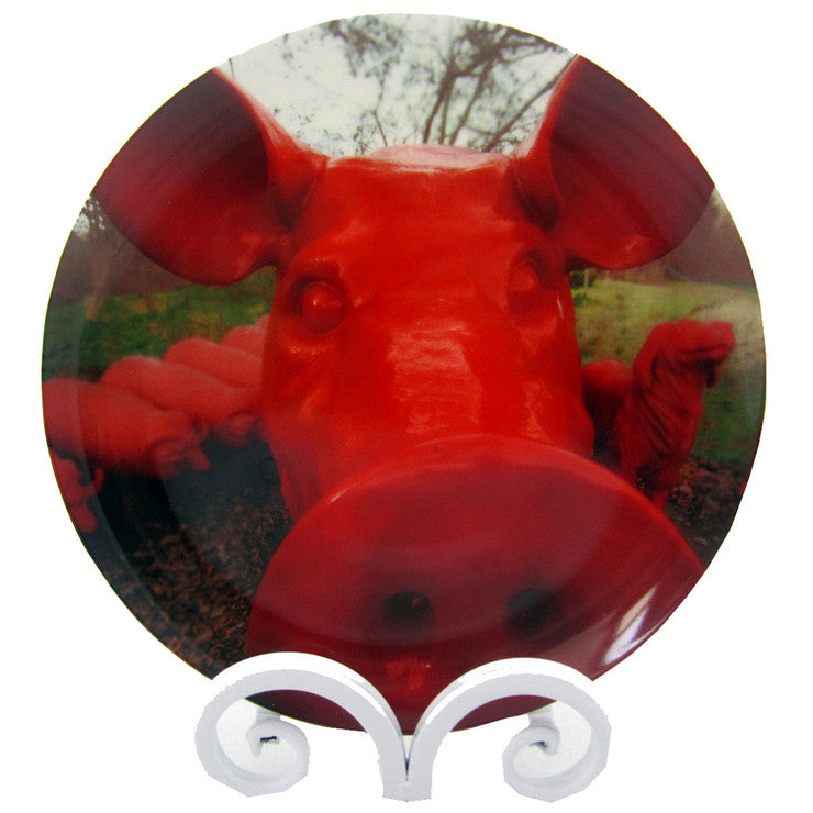 Cloned Red Pig Ltd Ed Plate