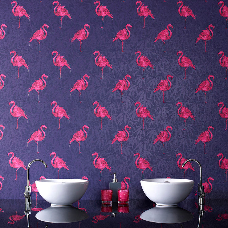 Flamingo Roll Indigo Pink