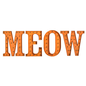 Marquee Light MEOW Set Orange