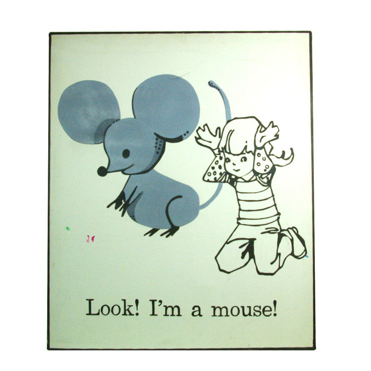 Mouse Folk Art Painting