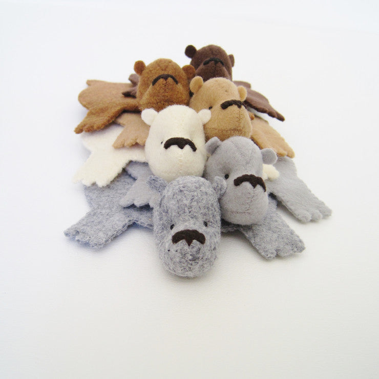 Bear Rug Coaster Set Of 6