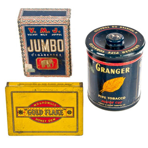 Cigar Tins Set Of 3